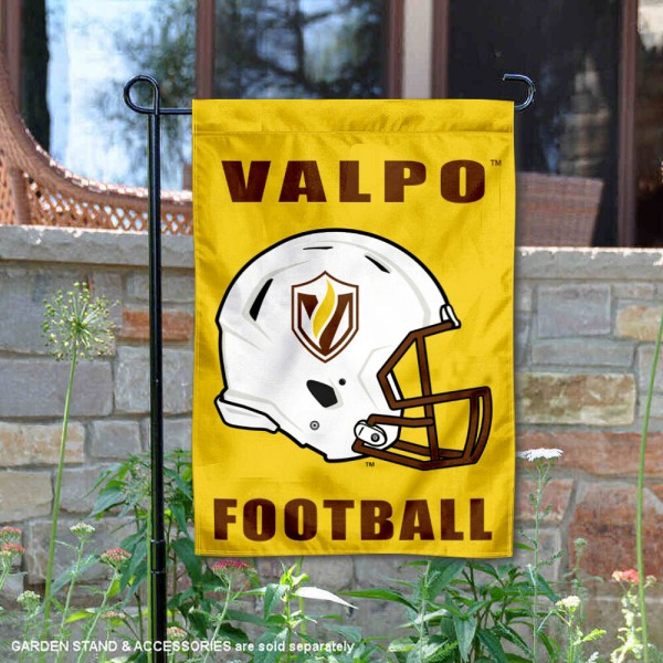Valparaiso Crusaders Helmet Yard Garden Flag is 13x18 inches in size, is made of 2-layer polyester with Liner, screen printed university athletic logos and lettering, and is readable and viewable correctly on both sides. Available same day shipping, our Valparaiso Crusaders Helmet Yard Garden Flag is officially licensed and approved by the university and the NCAA.