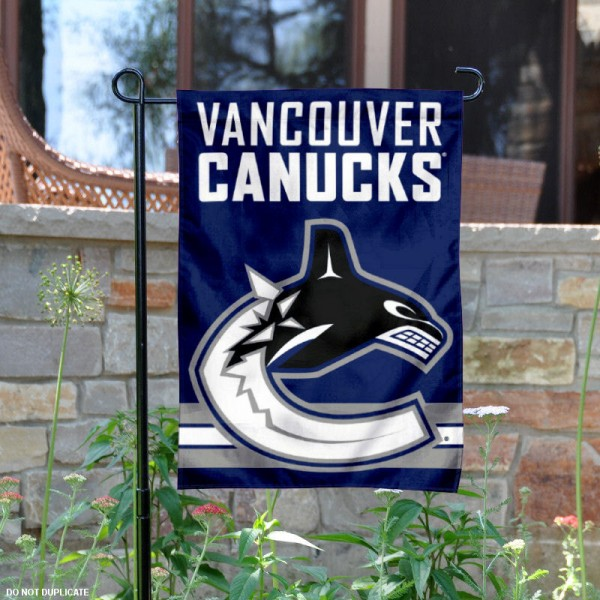 Vancouver Canucks Garden Flag is 12.5x18 inches in size, is made of 2-ply polyester, and has two sided screen printed logos and lettering. Available with Express Next Day Ship, our Vancouver Canucks Garden Flag is NHL Officially Licensed and is double sided.