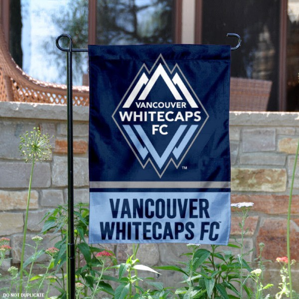 Vancouver Whitecaps Garden Flag is 12.5x18 inches in size, is made of 2-ply polyester, and has two sided screen printed logos and lettering. Available with Express Next Day Shipping, our Vancouver Whitecaps Garden Flag is MLS Genuine Merchandise and is double sided.