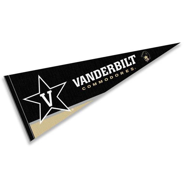 Vanderbilt Commodores Decorations consists of our full size pennant which measures 12x30 inches, is constructed of felt, is single sided imprinted, and offers a pennant sleeve for insertion of a pennant stick, if desired. This Vanderbilt Commodores Decorations is officially licensed by the selected university and the NCAA.