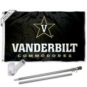 Vanderbilt Commodores Flag Pole and Bracket Kit