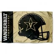 Vanderbilt Commodores Football Helmet Flag
