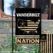 Vanderbilt Commodores Garden Flag with USA Country Stars and Stripes
