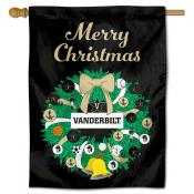 Vanderbilt Commodores Happy Holidays Banner Flag