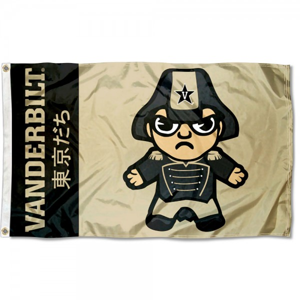 Vanderbilt Commodores Kawaii Tokyo Dachi Yuru Kyara Flag measures 3x5 feet, is made of 100% polyester, offers quadruple stitched flyends, has two metal grommets, and offers screen printed NCAA team logos and insignias. Our Vanderbilt Commodores Kawaii Tokyo Dachi Yuru Kyara Flag is officially licensed by the selected university and NCAA.