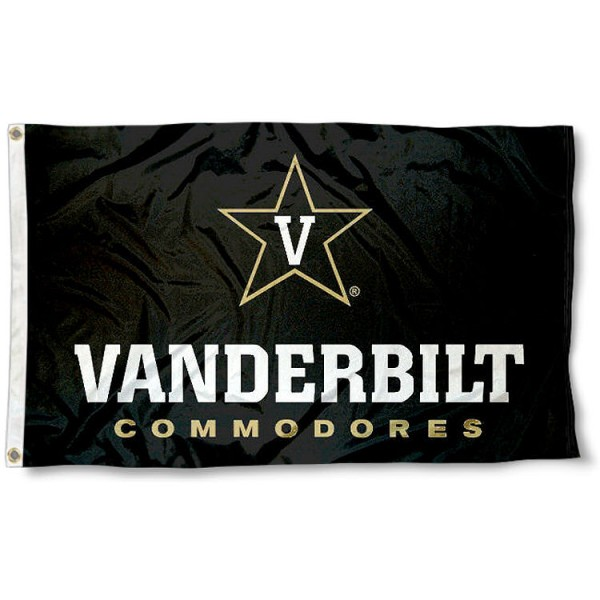 Vanderbilt Commodores Star V Logo Flag measures 3'x5', is made of 100% poly, has quadruple stitched sewing, two metal grommets, and has double sided Team University logos. Our Vanderbilt Commodores 3x5 Flag is officially licensed by the selected university and the NCAA.