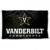 Vanderbilt Commodores Star V Logo Flag