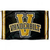 Vanderbilt Commodores Throwback Vault Logo Flag