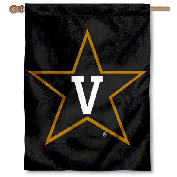 Vanderbilt University Black House Flag is a vertical house flag which measures 30x40 inches, is made of 2 ply 100% polyester, offers dye sublimated NCAA team insignias, and has a top pole sleeve to hang vertically. Our Vanderbilt University Black House Flag is officially licensed by the selected university and the NCAA