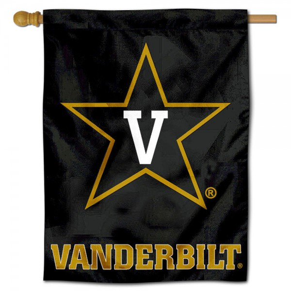 "Vanderbilt University Decorative Flag is constructed of polyester material, is a vertical house flag, measures 30""x40"", offers screen printed athletic insignias, and has a top pole sleeve to hang vertically. Our Vanderbilt University Decorative Flag is Officially Licensed by Vanderbilt University and NCAA."