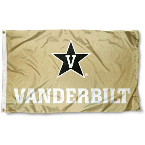 Vanderbilt University Gold Flag measures 3'x5', is made of 100% poly, has quadruple stitched sewing, two metal grommets, and has double sided logos. Our Vanderbilt University Gold Flag is officially licensed by the selected university and the NCAA.