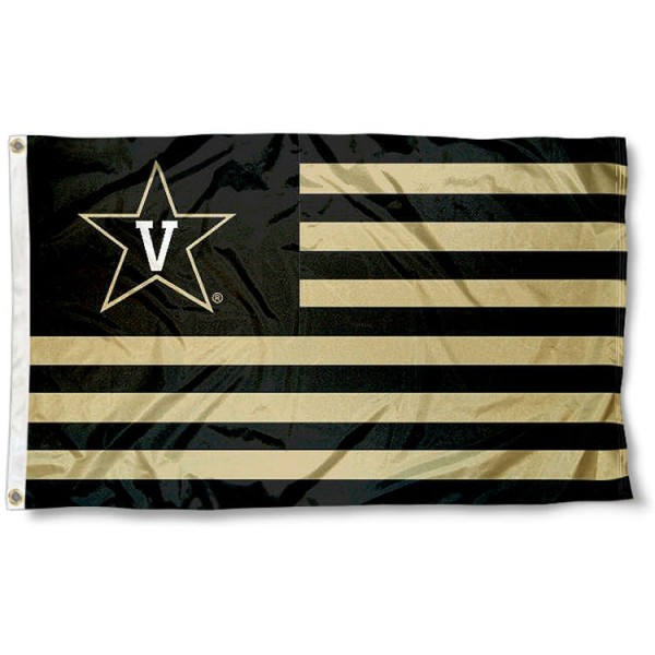 Vanderbilt University Stripes Flag measures 3'x5', is made of polyester, offers double stitched flyends for durability, has two metal grommets, and is viewable from both sides with a reverse image on the opposite side. Our Vanderbilt University Stripes Flag is officially licensed by the selected school university and the NCAA.