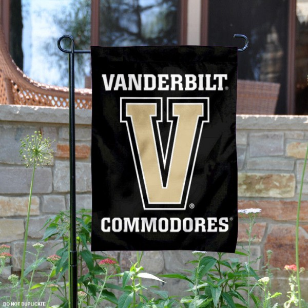 Vanderbilt V Logo Garden Flag is 13x18 inches in size, is made of 2-layer polyester, screen printed Vanderbilt V athletic logos and lettering. Available with Same Day Express Shipping, Our Vanderbilt V Logo Garden Flag is officially licensed and approved by Vanderbilt V and the NCAA.