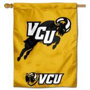 VCU Rams jumping Ram Logo Banner Flag