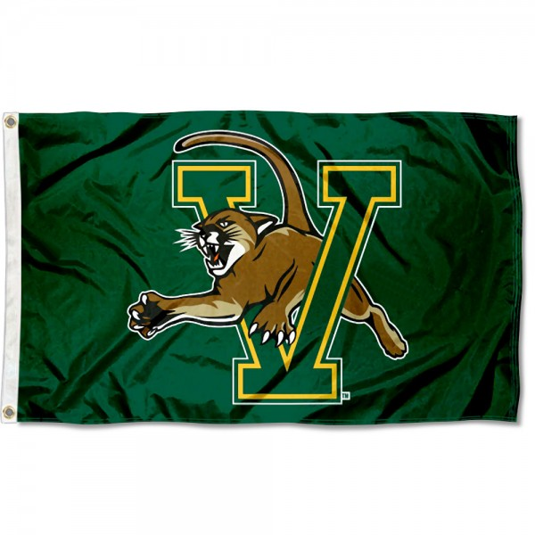 Vermont Catamounts Green Flag measures 3x5 feet, is made of 100% polyester, offers quadruple stitched flyends, has two metal grommets, and offers screen printed NCAA team logos and insignias. Our Vermont Catamounts Green Flag is officially licensed by the selected university and NCAA.