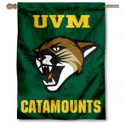 Vermont Catamounts New Logo Double Sided House Flag