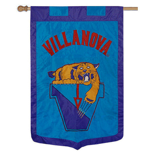 Villanova University Banner Flag measures 35x52 inches, is made of 100% thick nylon, offers embroidered NCAA team insignias, and has a top pole sleeve to hang vertically. Our Villanova University Banner Flag is officially licensed by the selected university and the NCAA