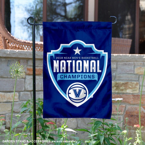 Villanova University Basketball 2018 National Champions Garden Flag is 13x18 inches in size, is made of 2-layer polyester, screen printed university athletic logos and lettering, and is readable and viewable correctly on both sides. Available same day shipping, our Villanova University Basketball 2018 National Champions Garden Flag is officially licensed and approved by the university and the NCAA.