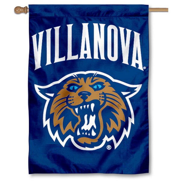 Villanova University House Flag is a vertical house flag which measures 28x40 inches, is made of 2 ply 100% nylon, offers dye sublimated NCAA team insignias, and has a top pole sleeve to hang vertically. Our Villanova University House Flag is officially licensed by the selected university and the NCAA