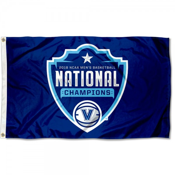 "Villanova University ""On the Court"" Logo 2018 Champions Flag measures 3x5 feet, is made of 100% polyester, offers quadruple stitched flyends, has two metal grommets, and offers screen printed NCAA team logos and insignias. Our Villanova University ""On the Court"" Logo 2018 Champions Flag is officially licensed by the selected university and NCAA."