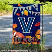 Villanova Wildcats Fall Football Autumn Leaves Decorative Garden Flag