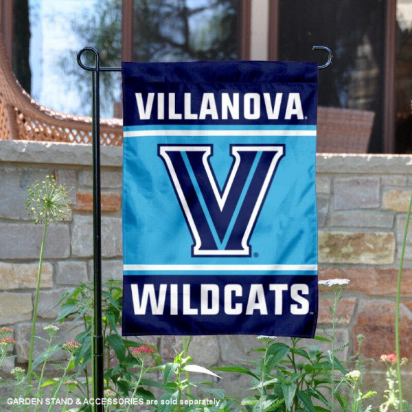 Villanova Wildcats Garden Flag is 13x18 inches in size, is made of 2-layer polyester, screen printed logos and lettering. Available with Same Day Express Shipping, Our Villanova Wildcats Garden Flag is officially licensed and approved by the NCAA.