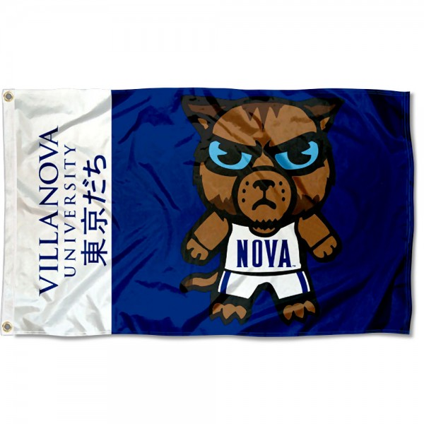 Villanova Wildcats Kawaii Tokyo Dachi Yuru Kyara Flag measures 3x5 feet, is made of 100% polyester, offers quadruple stitched flyends, has two metal grommets, and offers screen printed NCAA team logos and insignias. Our Villanova Wildcats Kawaii Tokyo Dachi Yuru Kyara Flag is officially licensed by the selected university and NCAA.