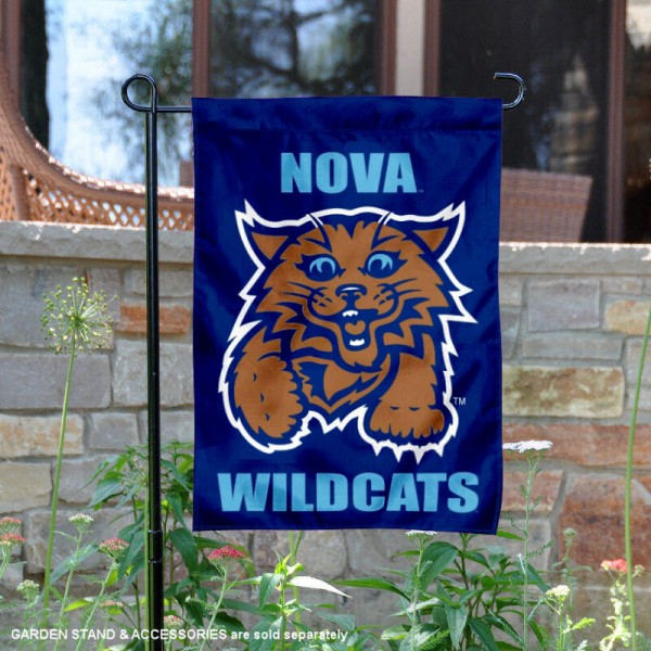 Villanova Wildcats Nova Wildcats Garden Flag is 13x18 inches in size, is made of 2-layer polyester, screen printed university athletic logos and lettering, and is readable and viewable correctly on both sides. Available same day shipping, our Villanova Wildcats Nova Wildcats Garden Flag is officially licensed and approved by the university and the NCAA.