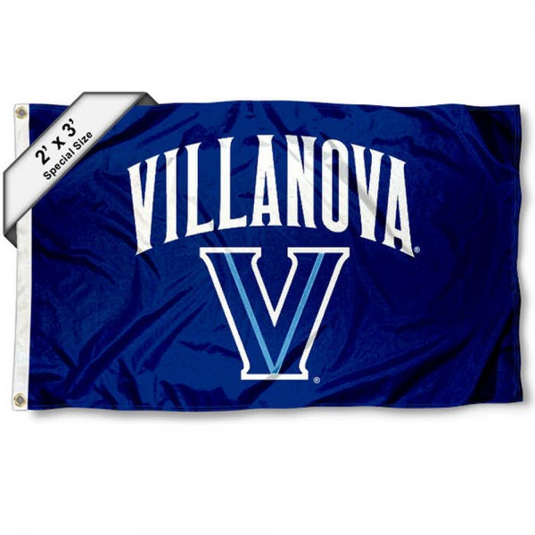 Villanova Wildcats Small 2'x3' Flag measures 2x3 feet, is made of 100% polyester, offers quadruple stitched flyends, has two brass grommets, and offers printed Villanova Wildcats logos, letters, and insignias. Our 2x3 foot flag is Officially Licensed by the selected university.