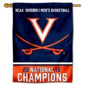 Virginia Cavaliers 2019 Mens Basketball Champions Double Sided House Flag