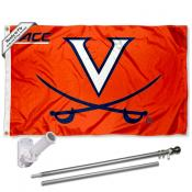 Virginia Cavaliers ACC Flag Pole and Bracket Kit