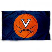Virginia Cavaliers Basketball Flag