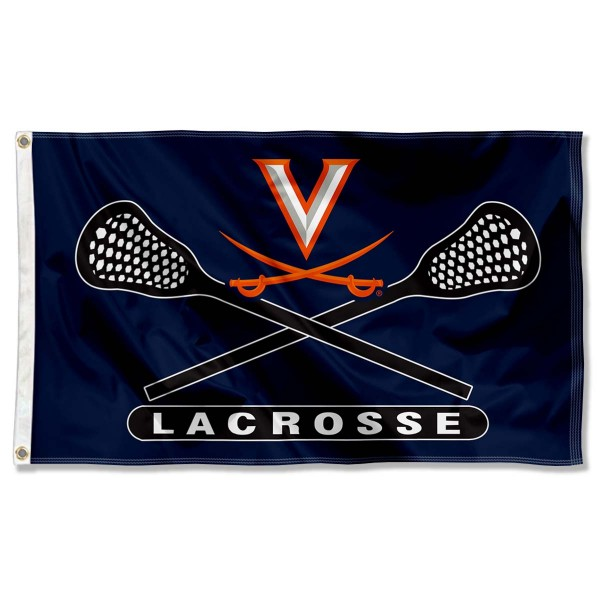 Virginia Cavaliers Lacrosse Flag measures 3'x5', is made of 100% poly, has quadruple stitched sewing, two metal grommets, and has double sided Virginia Cavaliers logos. Our Virginia Cavaliers Lacrosse Flag is officially licensed by the selected university and the NCAA.