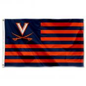 Virginia Cavaliers Striped Flag