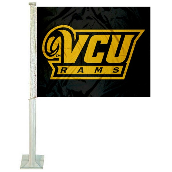 Virginia Commonwealth Rams Logo Car Flag measures 12x15 inches, is constructed of sturdy 2 ply polyester, and has screen printed school logos which are readable and viewable correctly on both sides. Virginia Commonwealth Rams Logo Car Flag is officially licensed by the NCAA and selected university.