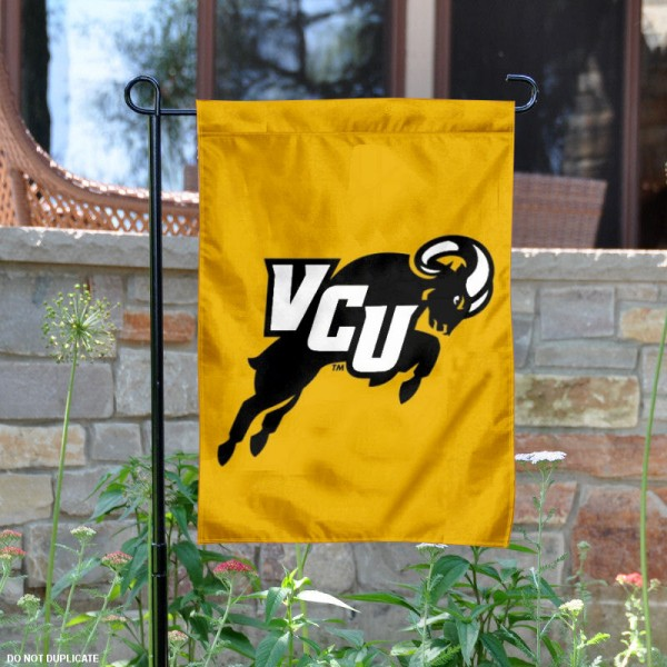 Virginia Commonwealth Rams Logo Garden Flag is 13x18 inches in size, is made of 2-layer polyester, screen printed Virginia Commonwealth Rams Bay athletic logos and lettering. Available with Same Day Express Shipping, Our Virginia Commonwealth Rams Logo Garden Flag is officially licensed and approved by Virginia Commonwealth Rams Bay and the NCAA.