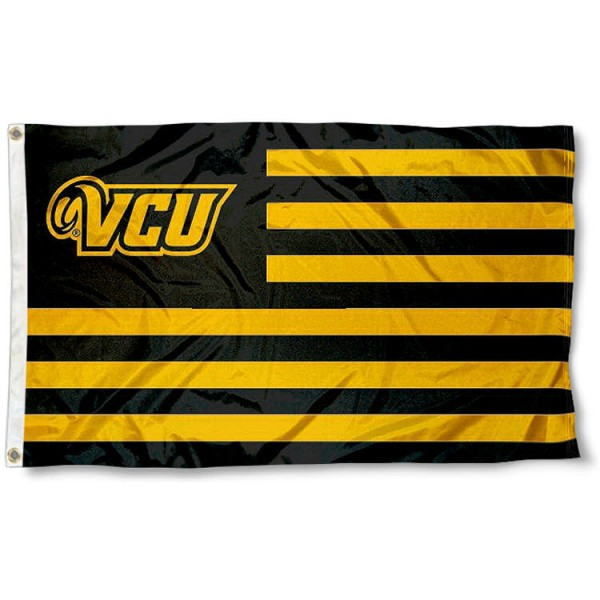 Virginia Commonwealth Rams Stripes Flag measures 3'x5', is made of polyester, offers double stitched flyends for durability, has two metal grommets, and is viewable from both sides with a reverse image on the opposite side. Our Virginia Commonwealth Rams Stripes Flag is officially licensed by the selected school university and the NCAA.