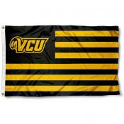 Virginia Commonwealth Rams Stripes Flag