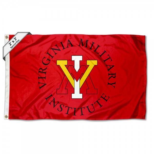 Virginia Military Keydets Small 2'x3' Flag measures 2x3 feet, is made of 100% polyester, offers quadruple stitched flyends, has two brass grommets, and offers printed Virginia Military Keydets logos, letters, and insignias. Our 2x3 foot flag is Officially Licensed by the selected university.