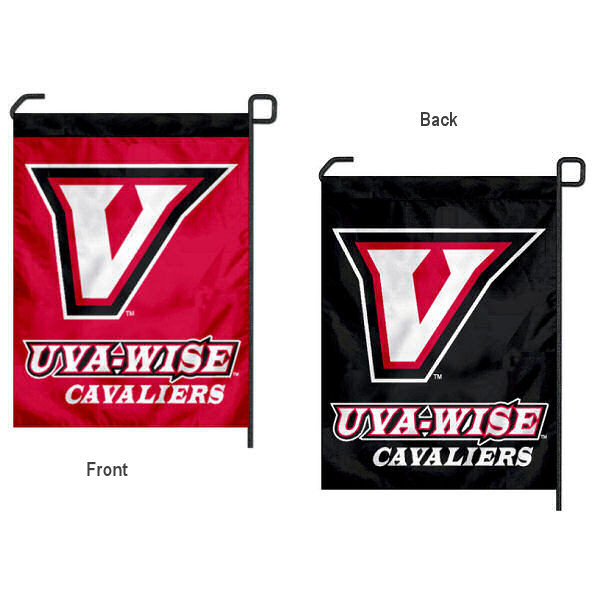 Virginia's College at Wise Garden Flag is 13x18 inches in size, is made of 2-layer polyester, screen printed Virginia's College at Wise athletic logos and lettering. Available with Same Day Express Shipping, Our Virginia's College at Wise Garden Flag is officially licensed and approved by Virginia's College at Wise and the NCAA.