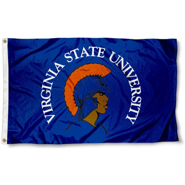Virginia State Trojans Flag measures 3'x5', is made of 100% poly, has quadruple stitched sewing, two metal grommets, and has double sided Virginia State Trojans logos. Our Virginia State University Flag is officially licensed by the selected university and the NCAA