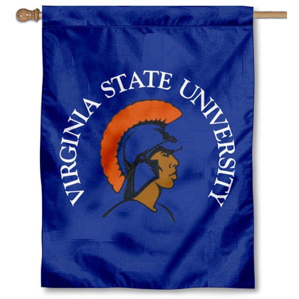 Virginia State University Banner Flag is a vertical house flag which measures 30x40 inches, is made of 2 ply 100% polyester, offers dye sublimated NCAA team insignias, and has a top pole sleeve to hang vertically. Our Virginia State University Banner Flag is officially licensed by the selected university and the NCAA.