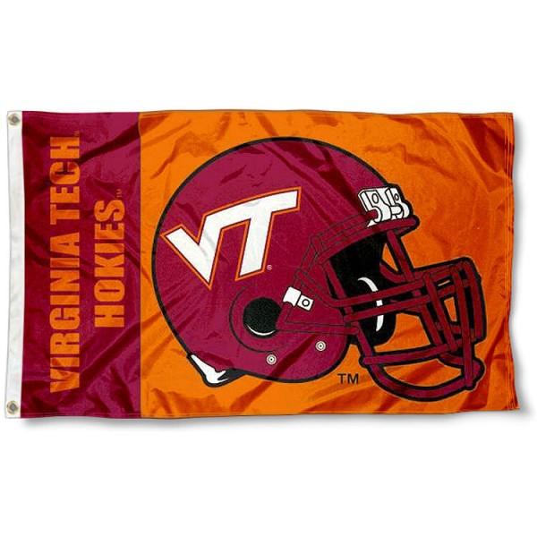Virginia Tech Football Flag measures 3'x5', is made of 100% poly, has quadruple stitched sewing, two metal grommets, and has double sided Virginia Tech logos. Our Virginia Tech Football Flag is officially licensed by the selected university and the NCAA.