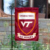 Virginia Tech Go Hokies Shield Garden Flag
