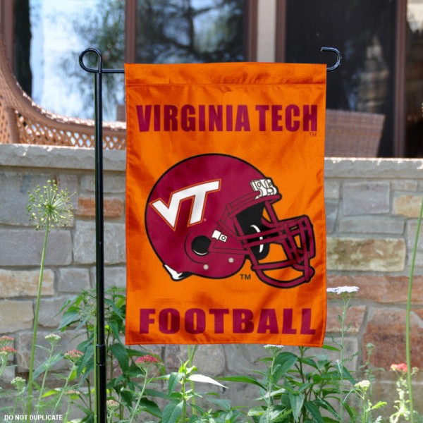 Virginia Tech Football Helmet Garden Banner is 13x18 inches in size, is made of 2-layer polyester, screen printed Hokies athletic logos and lettering. Available with Same Day Express Shipping, Our Virginia Tech Football Helmet Garden Banner is officially licensed and approved by Hokies and the NCAA.