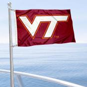 Virginia Tech Hokies Boat and Mini Flag