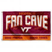 Virginia Tech Hokies Fan Man Cave Game Room Banner Flag
