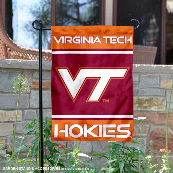 Virginia Tech Hokies Garden Flag is 13x18 inches in size, is made of 2-layer polyester, screen printed logos and lettering. Available with Same Day Express Shipping, Our Virginia Tech Hokies Garden Flag is officially licensed and approved by the NCAA.