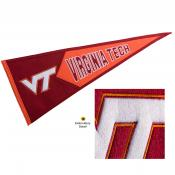 Virginia Tech Hokies Genuine Wool Pennant