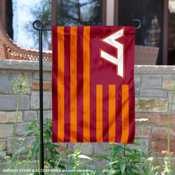 Virginia Tech Hokies Nation Stripes Garden Flag
